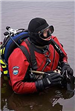 Diver getting ready to dive
