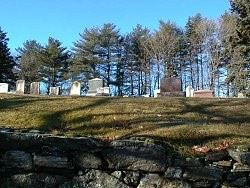 Union Cemetery Stone Wall and Tombstones